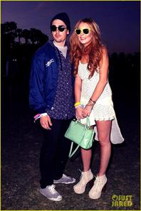 Lindsay Lohan: Coachella with Michael Lohan Jr!