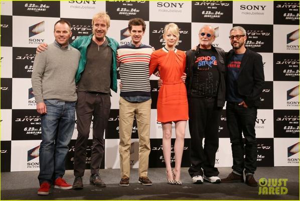 Emma Stone & Andrew Garfield: 'Spider-Man' Tokyo Photo Call
