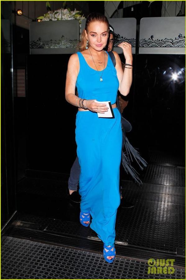 Lindsay Lohan: Jewels With Buddies Fan!