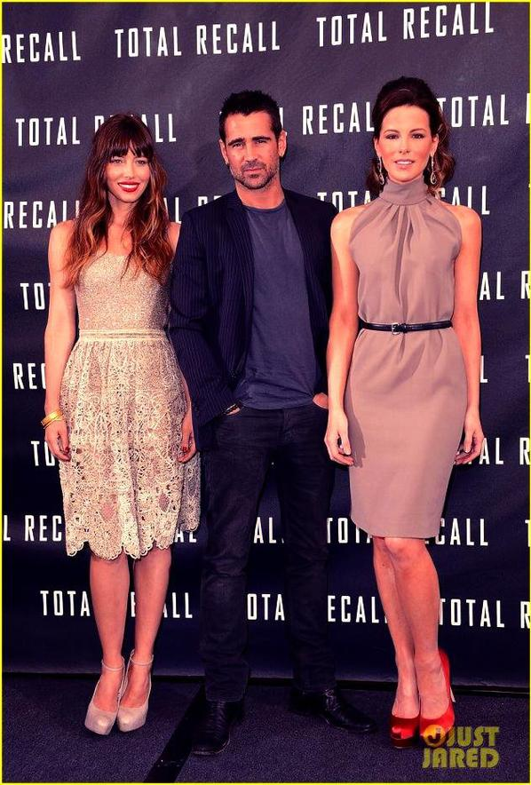 Jessica Biel & Kate Beckinsale: Total Recall Photo Call!