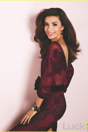 Eva Longoria Covers 'Lucky' September 2012