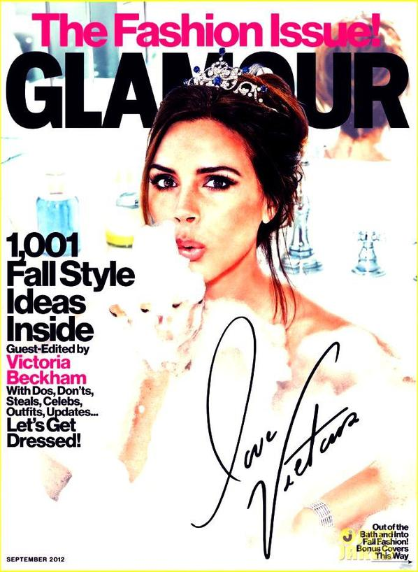 Victoria Beckham Covers 'Glamour's' September 2012