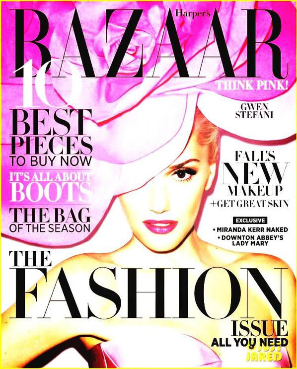Gwen Stefani Covers 'Harper's Bazaar' September 2012