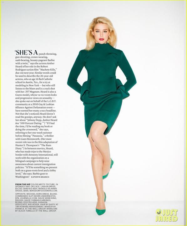 Amber Heard: NYT Magazine Curves