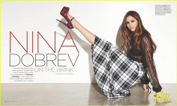 Nina Dobrev Covers 'Ocean Drive' September 2012