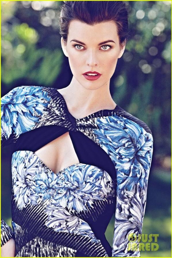 Milla Jovovich Covers 'Flare' October 2012