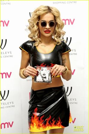Rita Ora: Flamin' Hot 'Ora' Album Signing!
