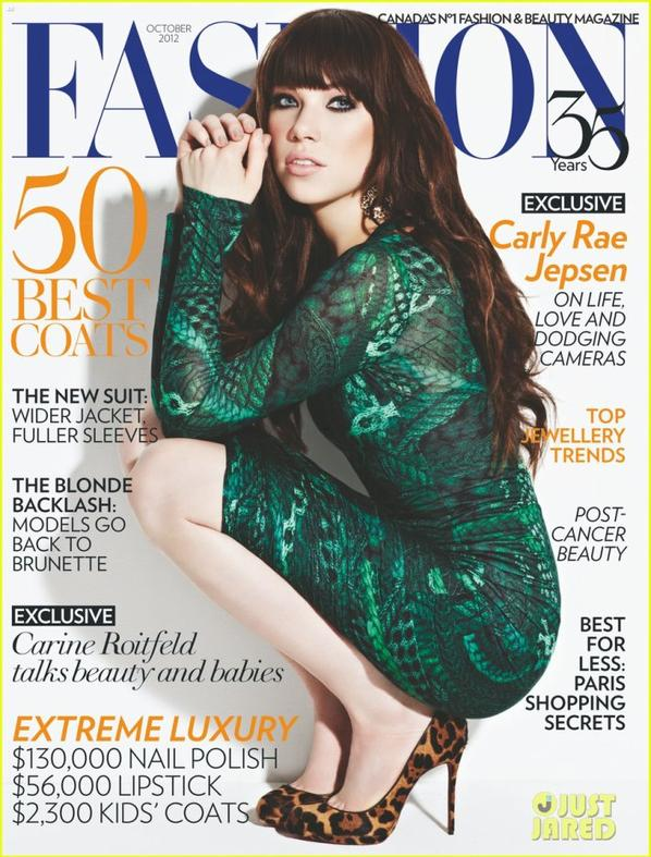Carly Rae Jepsen Covers 'Fashion' Magazine October 2012