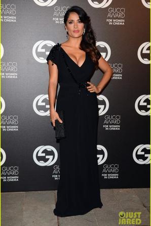 Salma Hayek: Gucci Awards with Francois-Henri Pinault!