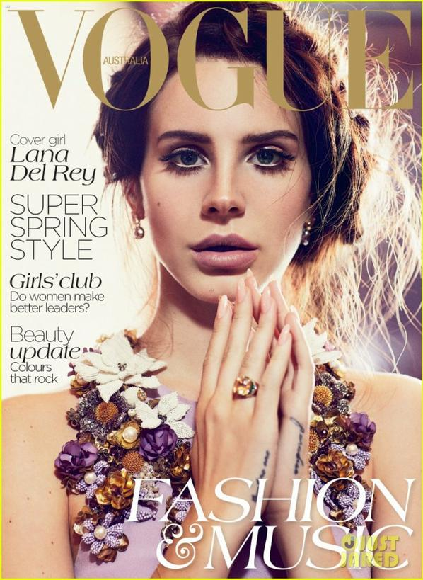 Lana Del Rey Covers 'Vogue Australia' October 2012
