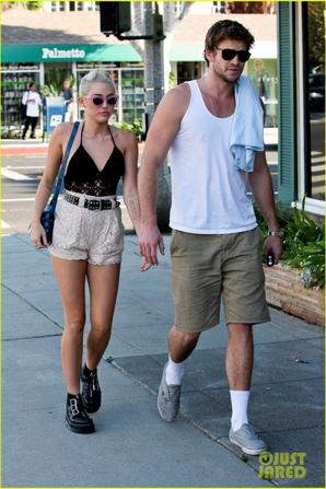 Miley Cyrus: leaving a juice place