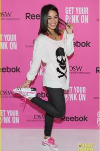 Vanessa Hudgens Gets Her Pink On to Fight Breast Cancer