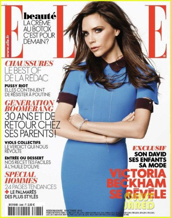 Victoria Beckham Covers 'Elle France' Magazine