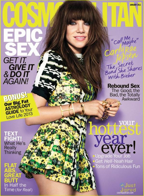 Carly Rae Jepsen Covers 'Cosmo' January 2013