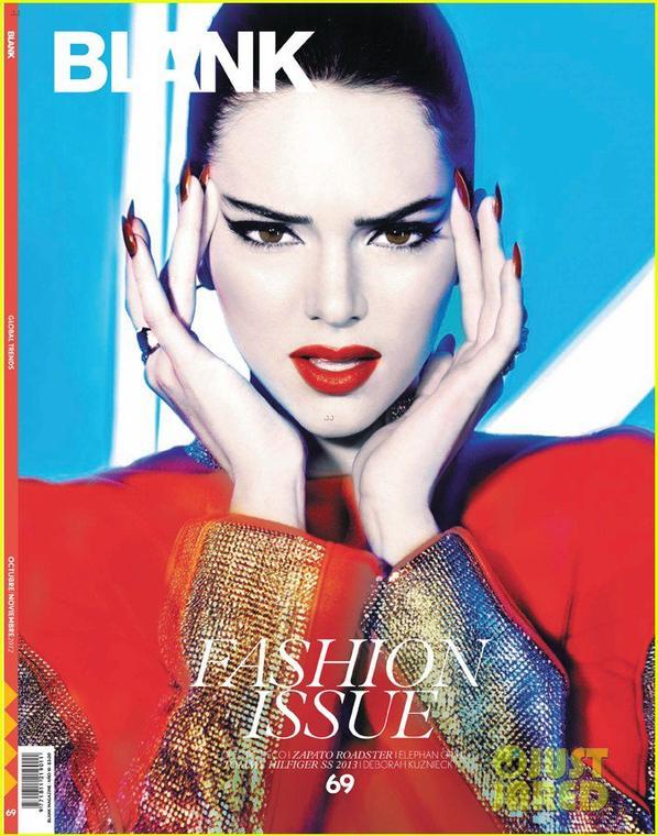 Kendall Jenner: 'Blank' Magazine Cover Girl!