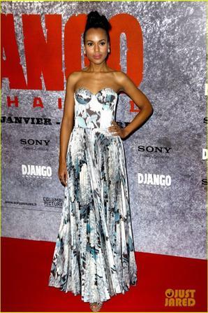 Kerry Washington & Jamie Foxx: 'Django Unchained' Paris Premiere!