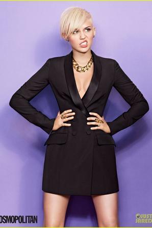 Miley Cyrus Suits 'Cosmopolitan' Magazine March 2013