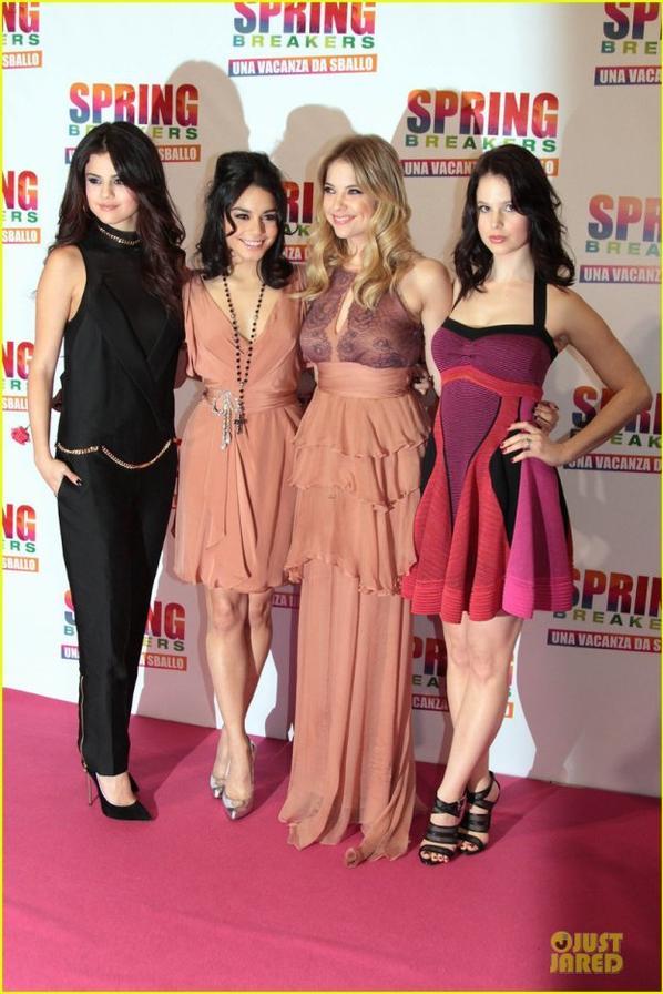 'Spring Breakers' Rome Premiere!
