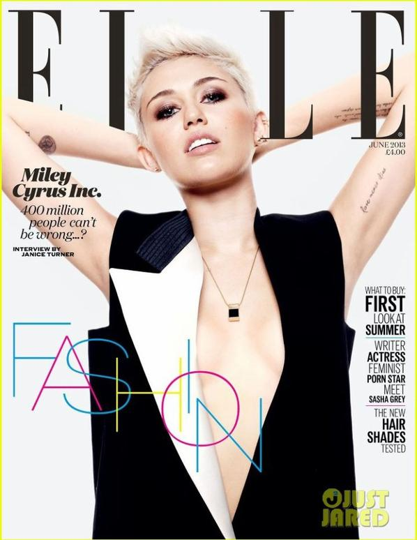 Miley Cyrus Covers 'Elle UK' June 2013