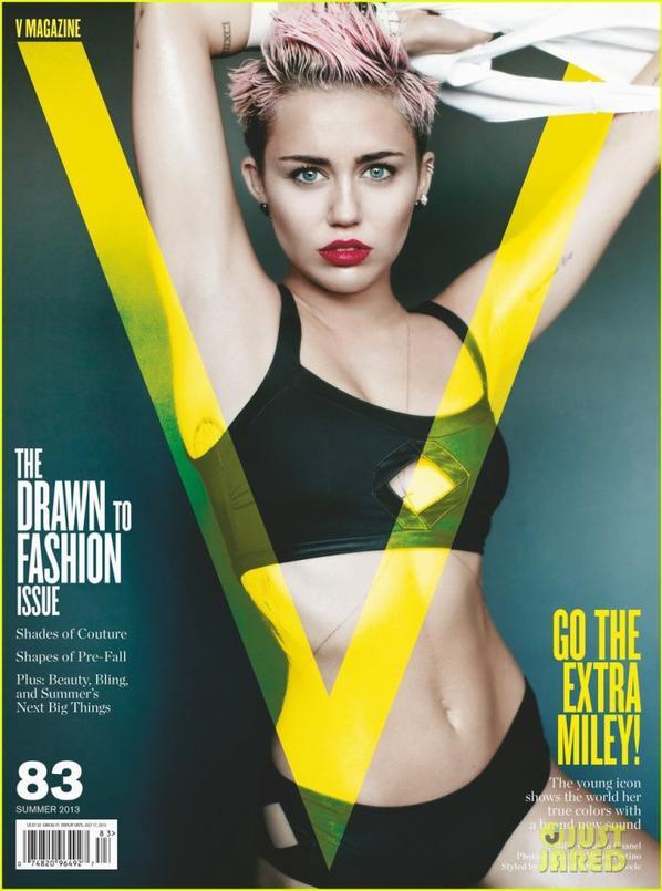 Miley Cyrus :  'V' Magazine