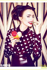 Lily Collins Covers 'Glamour' July 2013