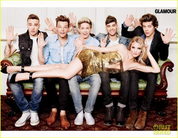 One Direction & Rosie Huntington-Whiteley Cover 'Glamour'