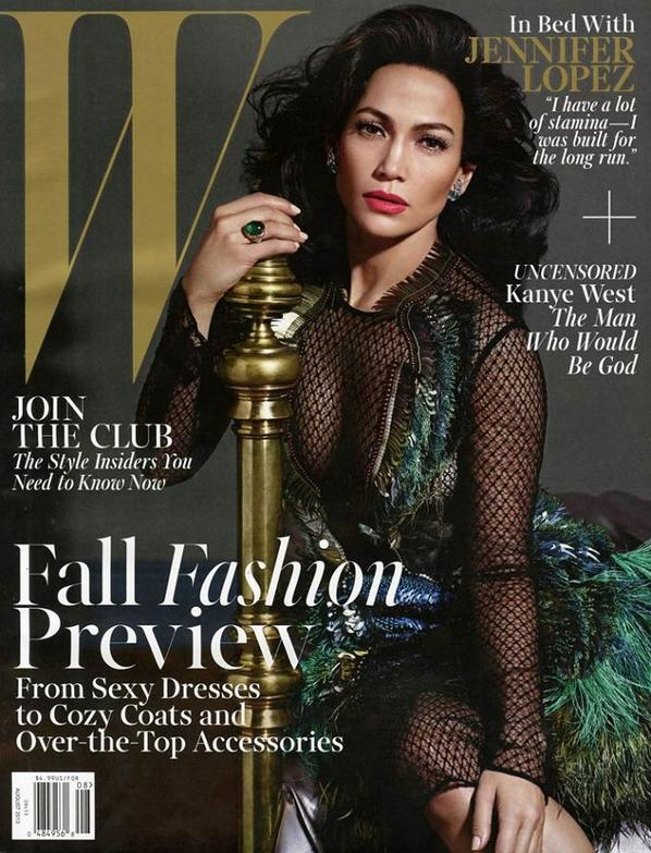 Jennifer Lopez Covers 'W' Magazine August 2013