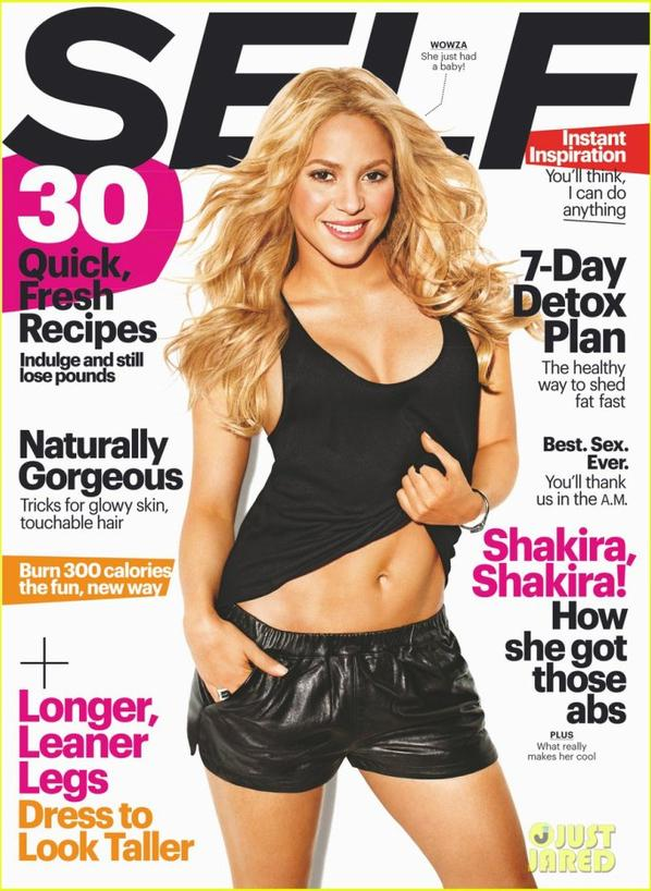 Shakira Flashes Post-Baby Abs for 'Self' September 2013