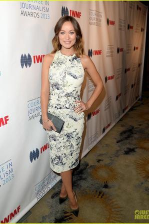 Olivia Wilde Debuts Baby Bump at IWMF Journalism Awards!