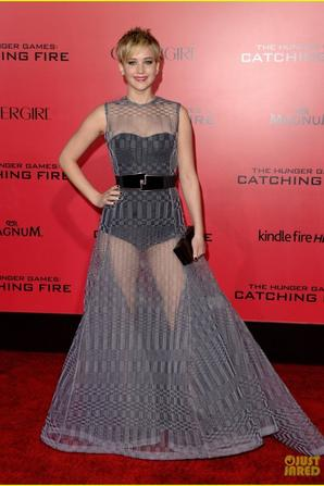 Jennifer Lawrence: Sheer Gown at 'Catching Fire' L.A. Premiere!