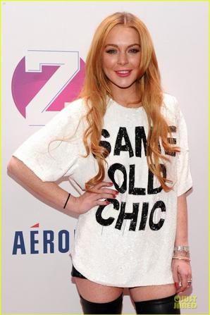 Lindsay Lohan at Z100's Jingle Ball!