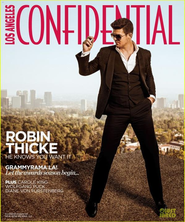 Robin Thicke Covers 'Los Angeles Confidential's Grammy Issue!