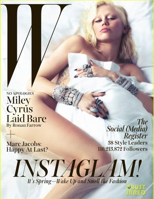Miley Cyrus Poses Naked for 'W' Magazine March 2014