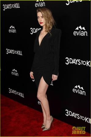 Johnny Depp Supports Amber Heard at '3 Days to Kill' Premiere!