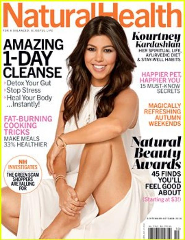 Kourtney Kardashian Covers Natural Health