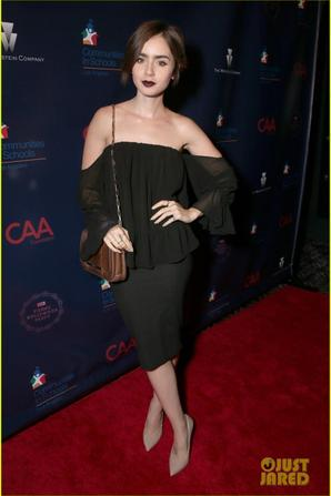 Lily Collins : CAA For Los Angeles Schools
