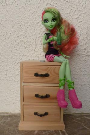 Nouvelle monster+une petite poupée+livre de cuisine cro chou :3