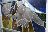 121 - Vitraux extérieurs du transept droit de l'église -