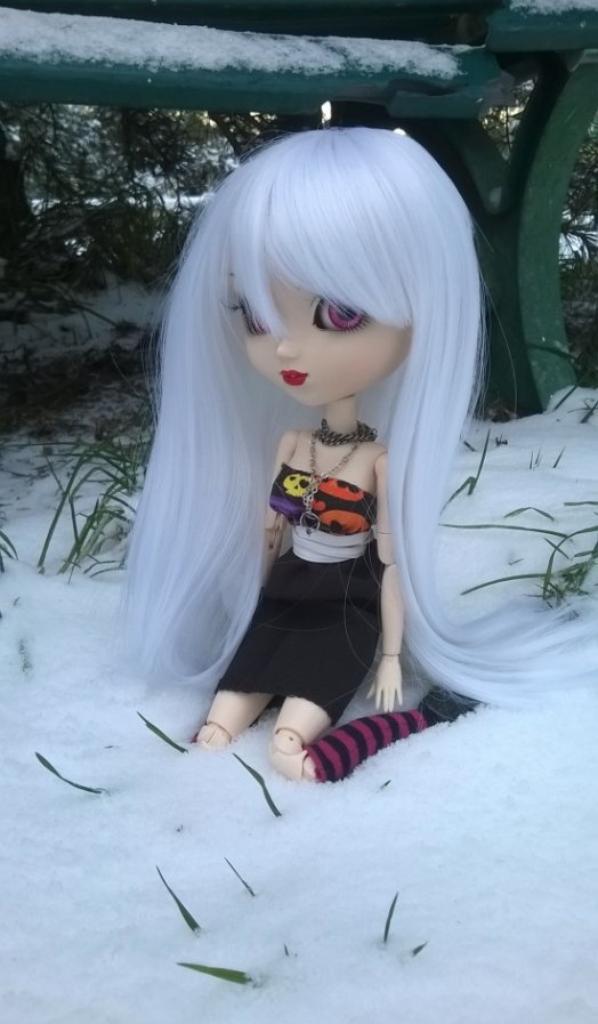 Anaïs sous la neige