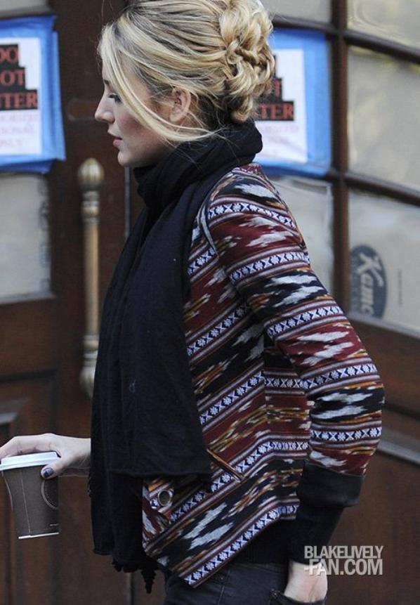 CANDID 16/10 : Notre Jolie blonde étais sur le tournage de Gossip girl!