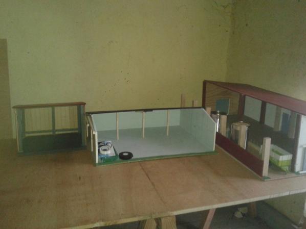on attaque a faire le grand diorama pour l expo de lempde