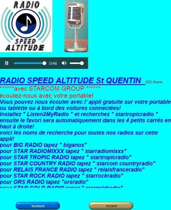 Infos de la radio