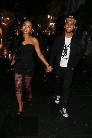 Leigh et Jordan à la sortie du club Amikas le 7 mars : <3 #Mixerement