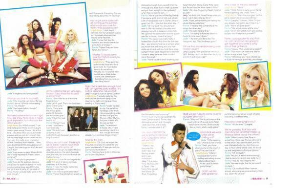 "Little Mix dans ""Bliss Magazine"" A :"