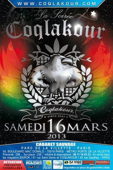 LA SOIREE COQLAKOUR (SAMEDI 16 MARS 2013!!!)