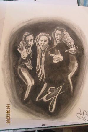 Portraits au fusain Mus'Art