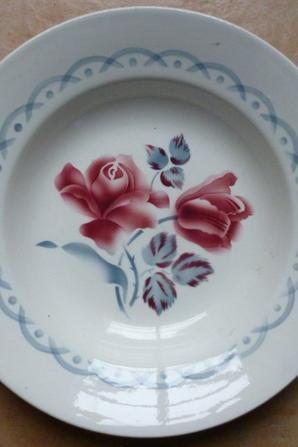 Miroir Picassiette Faïence de Digoin Mosaique Fleurs Romantique