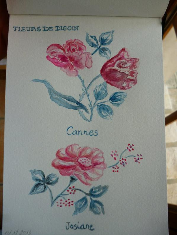 Fleurs de Digoin en Aquarelle