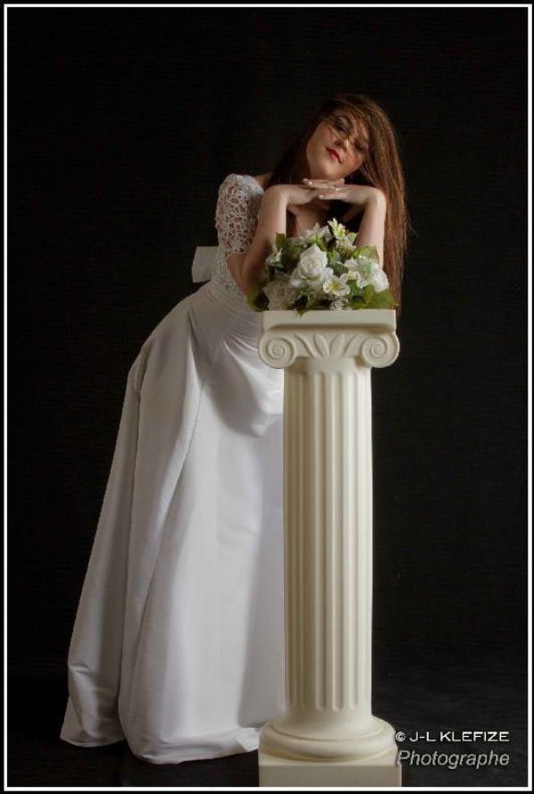 Séance photo au studio '( robe de mariage )