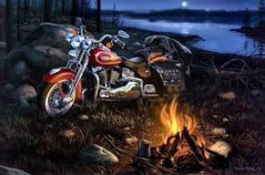 Les harley les bikers j adore :)